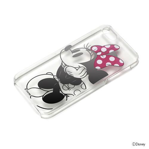 iPhone SE/5s/5 ケース ディズニー ハードケース クリア箔押し ミニーマウス  iPhone SE/5s/5_0