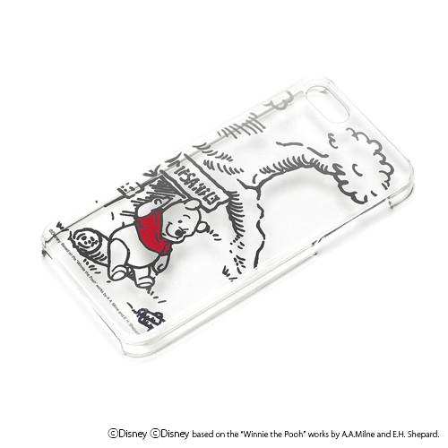 iPhone SE/5s/5 ケース ディズニー iPhone SE/5s/5 ハードケース クリア箔押し くまのプーさん_0