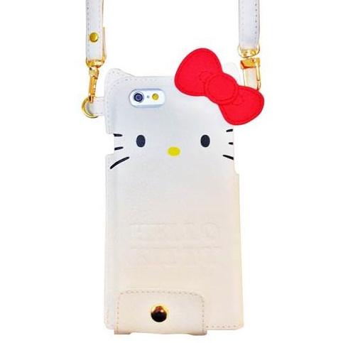 【iPhone6s/6】ハローキティ ダイカット レザーケース ホワイト iPhone 6s/6_0
