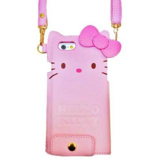 ハローキティ ダイカット レザーケース ピンク iPhone 6