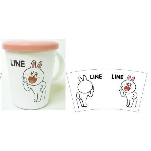 LINE ふた付きコップ_0