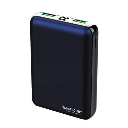 名刺サイズ10000mAhモバイルバッテリー「SMARTCOBY」ネイビー【4月中旬】_0