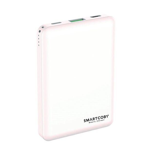 名刺サイズ8000mAhモバイルバッテリー「SMARTCOBY」 ホワイト_0