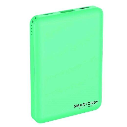 名刺サイズ8000mAhモバイルバッテリー「SMARTCOBY」 ターコイズ_0