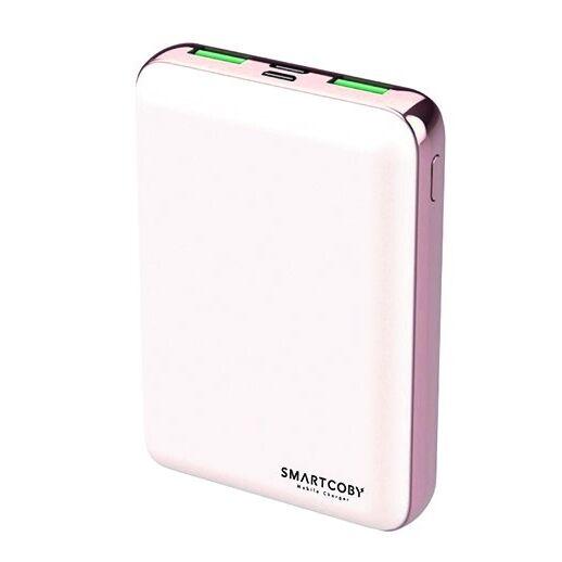 名刺サイズ10000mAhモバイルバッテリー「SMARTCOBY」ホワイト【2月下旬】_0