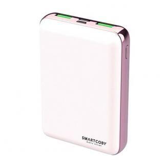 名刺サイズ10000mAhモバイルバッテリー「SMARTCOBY」ホワイト