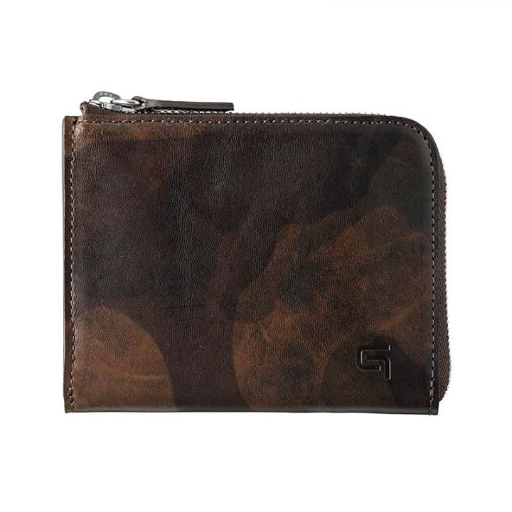 Desert Storm Genuine Leather L Shaped Zipper mini Wallet_0