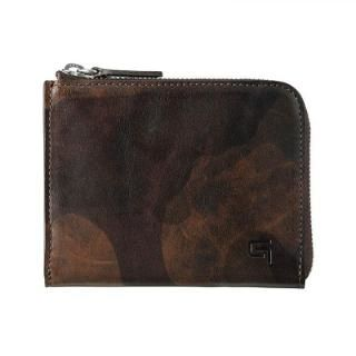 Desert Storm Genuine Leather L Shaped Zipper mini Wallet【2月下旬】
