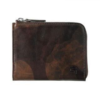 Desert Storm Genuine Leather L Shaped Zipper mini Wallet