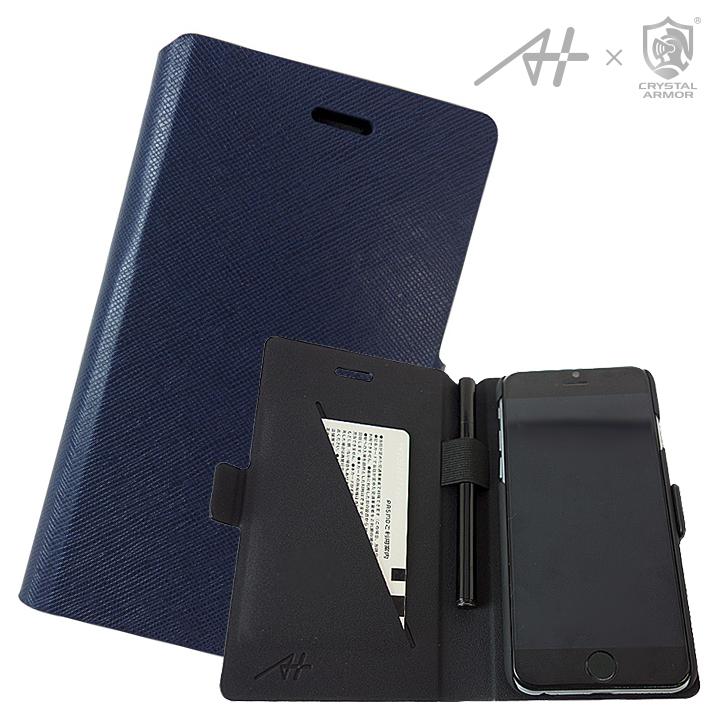 【iPhone6s/6ケース】[A+×CRYSTAL ARMOR]Su-Penホルダー付き手帳型ケース Special Edition ネイビー iPhone 6s/6_0