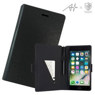 [2018新生活応援特価][A+×CRYSTAL ARMOR]Su-Penホルダー付き手帳型ケース Special Edition ブラック iPhone 7 Plus