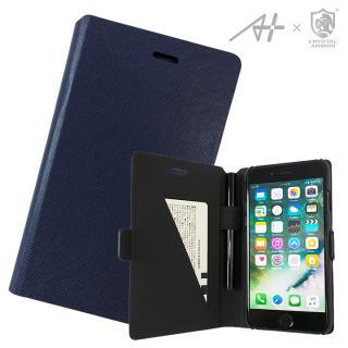【iPhone7 ケース】[A+×CRYSTAL ARMOR]Su-Penホルダー付き手帳型ケース Special Edition ネイビー iPhone 7