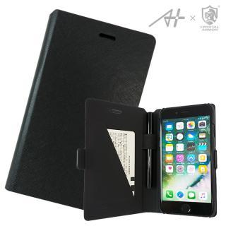 【iPhone7 ケース】[A+×CRYSTAL ARMOR]Su-Penホルダー付き手帳型ケース Special Edition ブラック iPhone 7