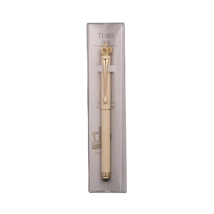 タッチペン付ボールペン/トレゾワ/アイボリー_0