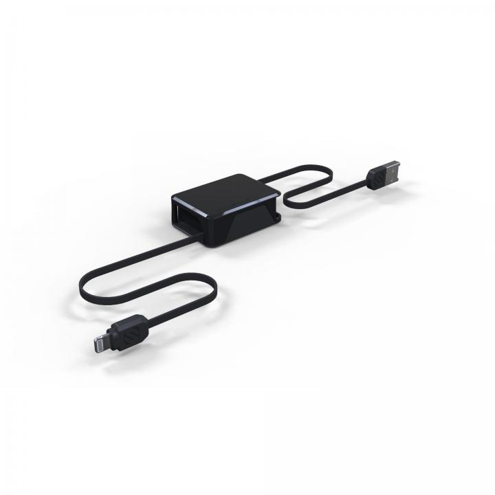 Apple認証取得の巻取式Lightning ケーブル boltBOX ブラック