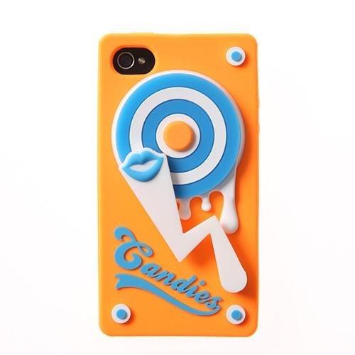 TURN TABLE オレンジ iPhone 4/4sケース_0