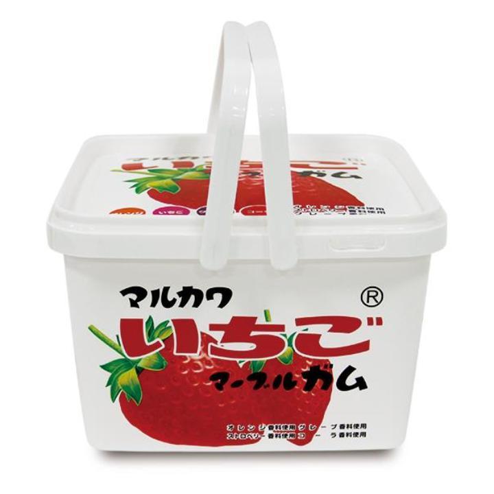[2017夏フェス特価]マルカワマーブル ガムバケツ 40袋入 イチゴ柄