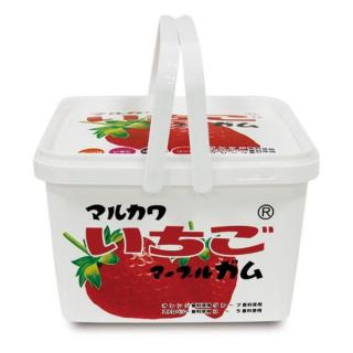マルカワマーブル ガムバケツ 40袋入 イチゴ柄