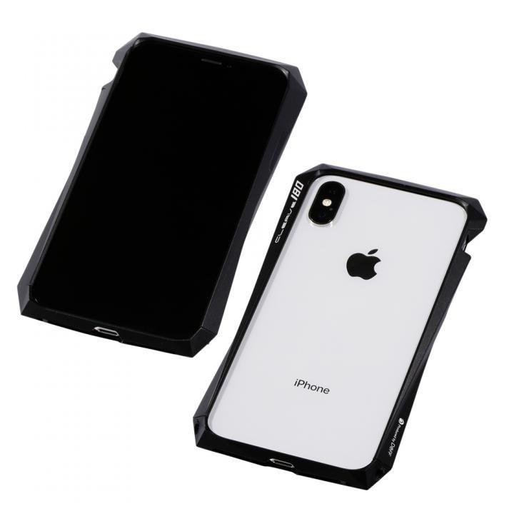 【iPhone XS/Xケース】Deff CLEAVE Aluminum Bumper 180 ブラック iPhone XS/X_0