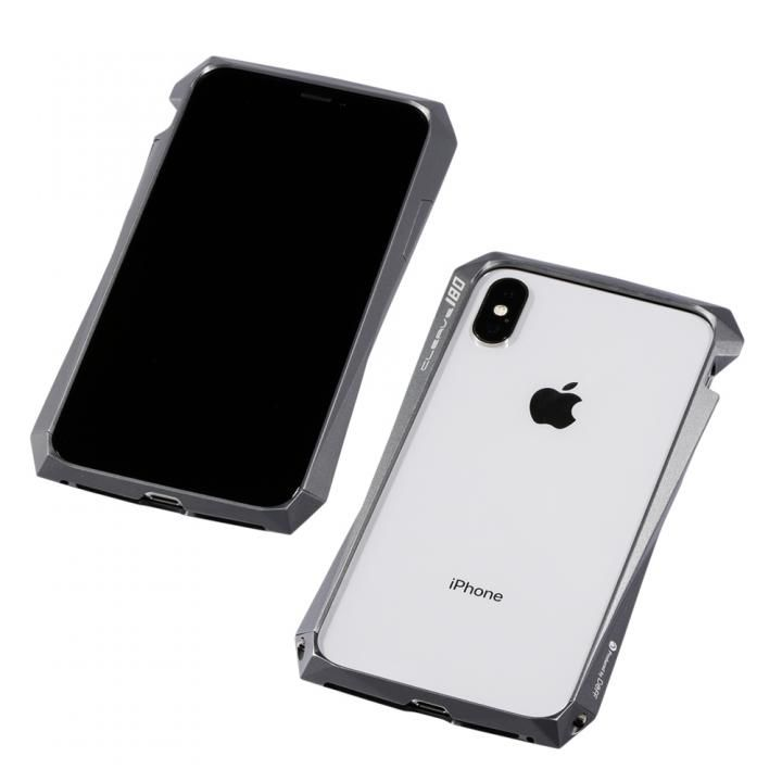 【iPhone XS/Xケース】Deff CLEAVE Aluminum Bumper 180 グラファイト iPhone XS/X_0