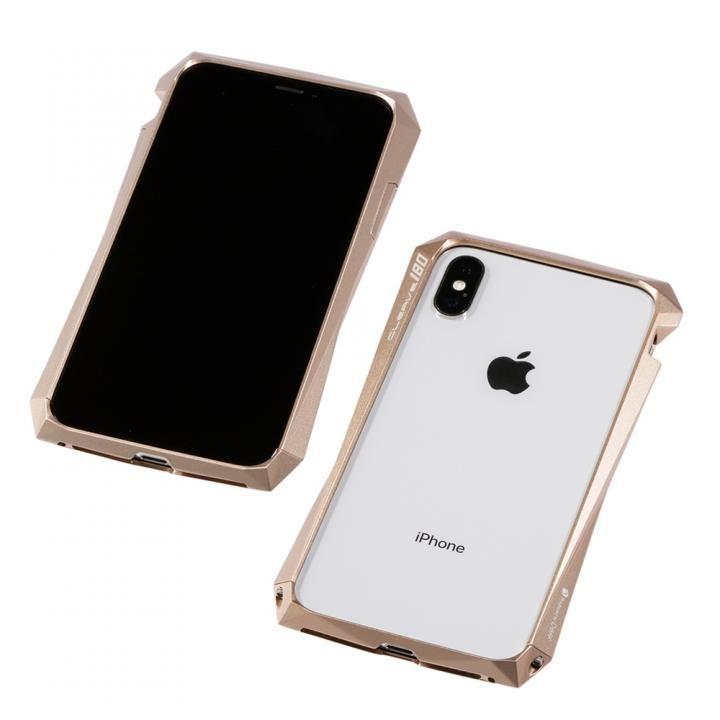 【iPhone XS/Xケース】Deff CLEAVE Aluminum Bumper 180 ゴールド iPhone XS/X_0