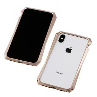 【iPhone XS/Xケース】Deff CLEAVE Aluminum Bumper 180 ゴールド iPhone XS/X【1月下旬】