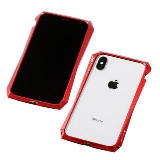 【iPhone XS/Xケース】Deff CLEAVE Aluminum Bumper 180 レッド iPhone XS/X【1月下旬】