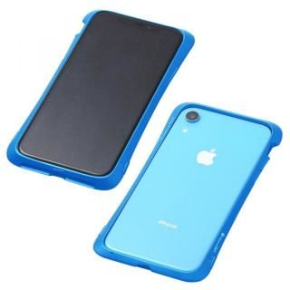 【iPhone XRケース】Deff CLEAVE Aluminum Bumper Aloof ブルー iPhone XR