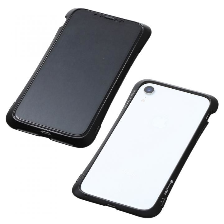 【iPhone XRケース】Deff CLEAVE Aluminum Bumper Aloof ブラック iPhone XR【12月下旬】_0