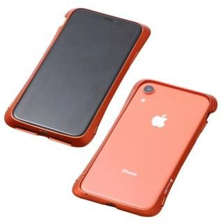 【iPhone XRケース】Deff CLEAVE Aluminum Bumper Aloof オレンジ iPhone XR