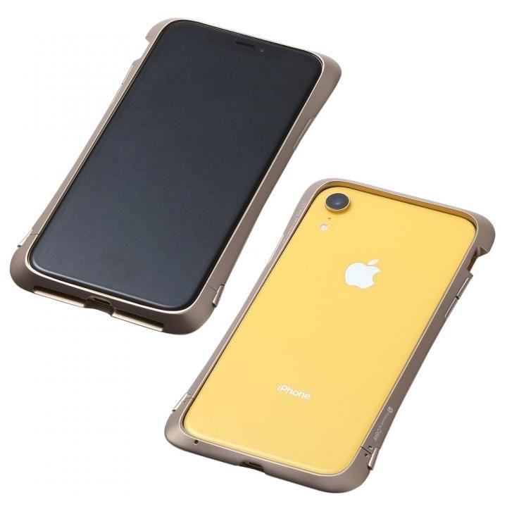 iPhone XR ケース Deff CLEAVE Aluminum Bumper Aloof ゴールド iPhone XR_0