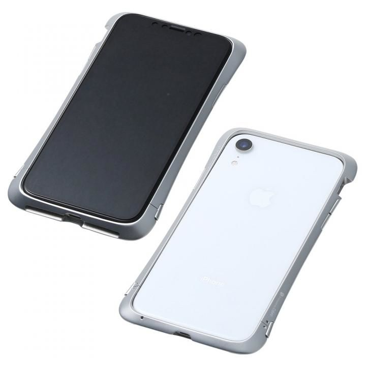 iPhone XR ケース Deff CLEAVE Aluminum Bumper Aloof シルバー iPhone XR_0