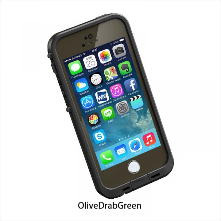 iPhone SE/5s/5 ケース 防水なのにTouchID対応 LifeProof fre オリーブドラブグリーン iPhone SE/5s/5ケース_0