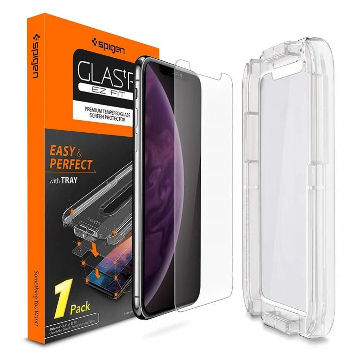iPhone XS Max フィルム Spigen 強化ガラス Glas.tR EZ Fit iPhone XS Max_0