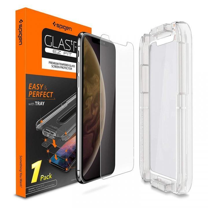 iPhone XR フィルム Spigen 強化ガラス Glas.tR EZ Fit iPhone XR_0