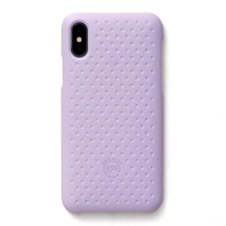 iPhone XS/X ケース AndMesh Haptic Case 背面ケース Light Purple iPhone XS/X_0