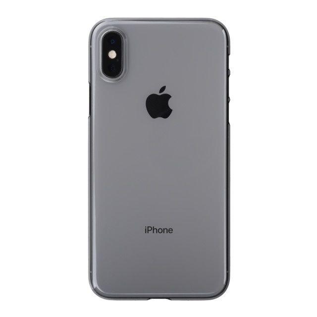 iPhone XS ケース パワーサポート エアジャケット クリアブラック iPhone XS_0