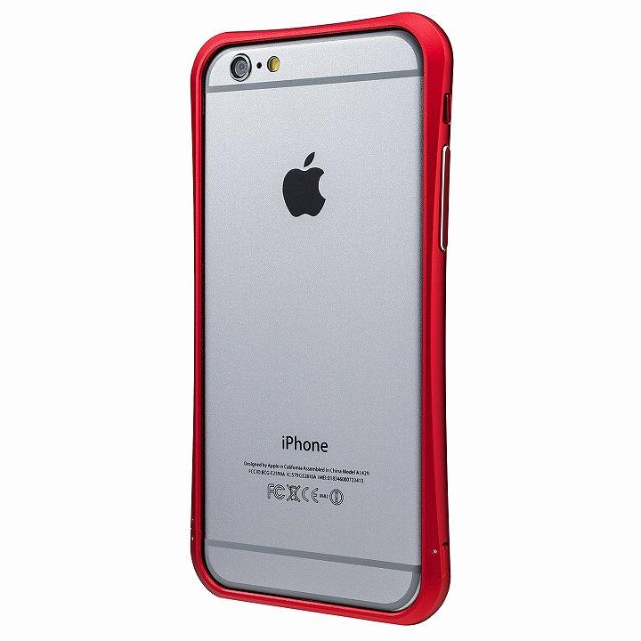 PRECISION ネジなし メタルバンパー レッド iPhone 6