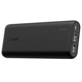 [百花繚乱セール][20100mAh]Anker PowerCore 2ポート4.8A出力 モバイルバッテリー ブラック【3月下旬】