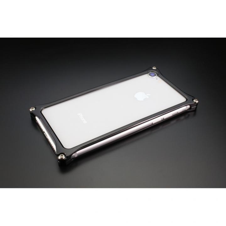 iPhone8/7 ケース ギルドデザイン ソリッドバンパー ポリッシュブラック iPhone SE 第2世代/8/7_0