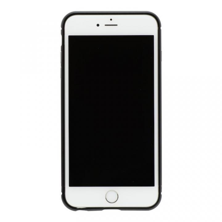 iPhone8/7 ケース クリスタルアーマー メタルバンパー オールブラック iPhone 8/7_0