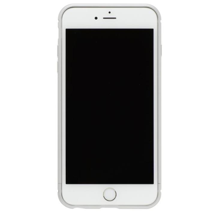 iPhone8/7 ケース クリスタルアーマー メタルバンパー プレーンシルバー iPhone 8/7_0