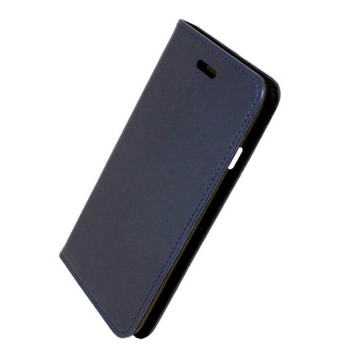 iPhone7 ケース 手帳×アルミバンパーケース Cuoio 紺/ブラック iPhone 7_0
