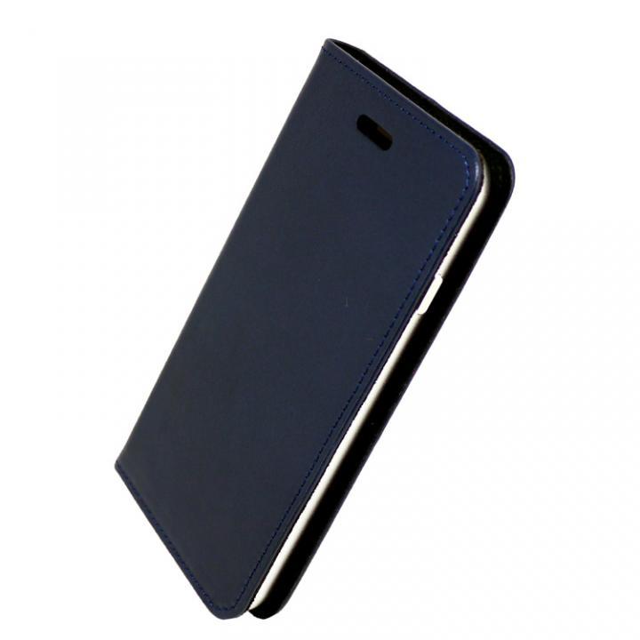 【iPhone7ケース】手帳×アルミバンパーケース Cuoio 紺/シルバー iPhone 7_0