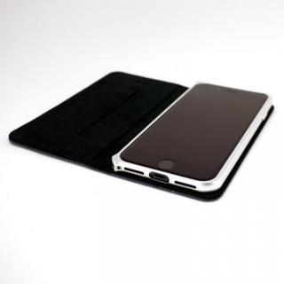 【iPhone7ケース】手帳×アルミバンパーケース Cuoio 紺/シルバー iPhone 7_1