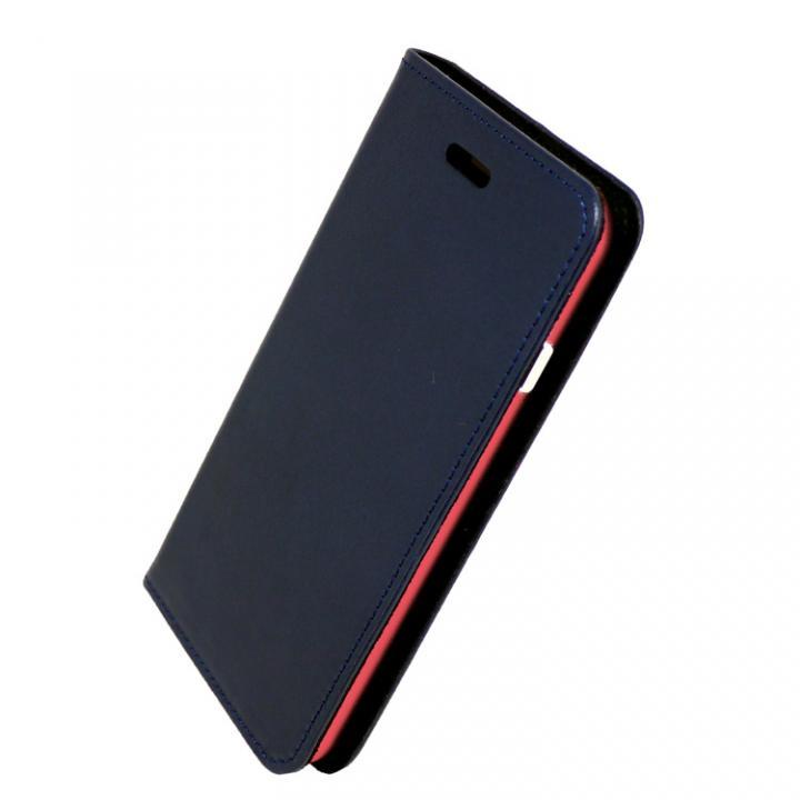 iPhone7 ケース 手帳×アルミバンパーケース Cuoio 紺/レッド iPhone 7_0