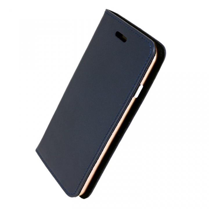 iPhone7 ケース 手帳×アルミバンパーケース Cuoio 紺/ローズゴールド iPhone 7_0