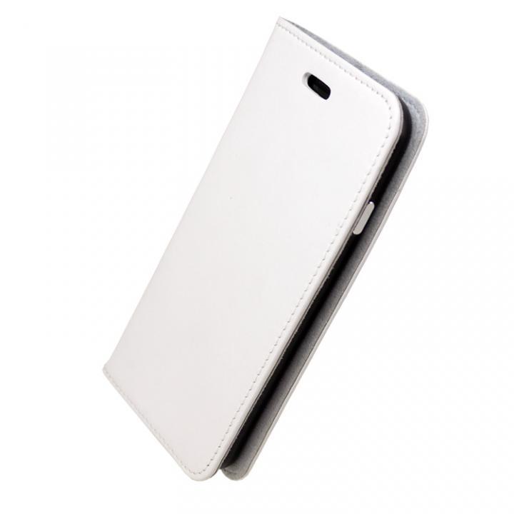 【iPhone7ケース】手帳×アルミバンパーケース Cuoio 白/ブラック iPhone 7_0