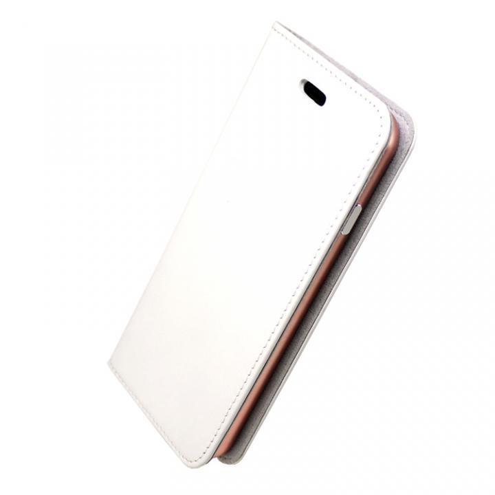 iPhone7 ケース 手帳×アルミバンパーケース Cuoio 白/ローズゴールド iPhone 7_0
