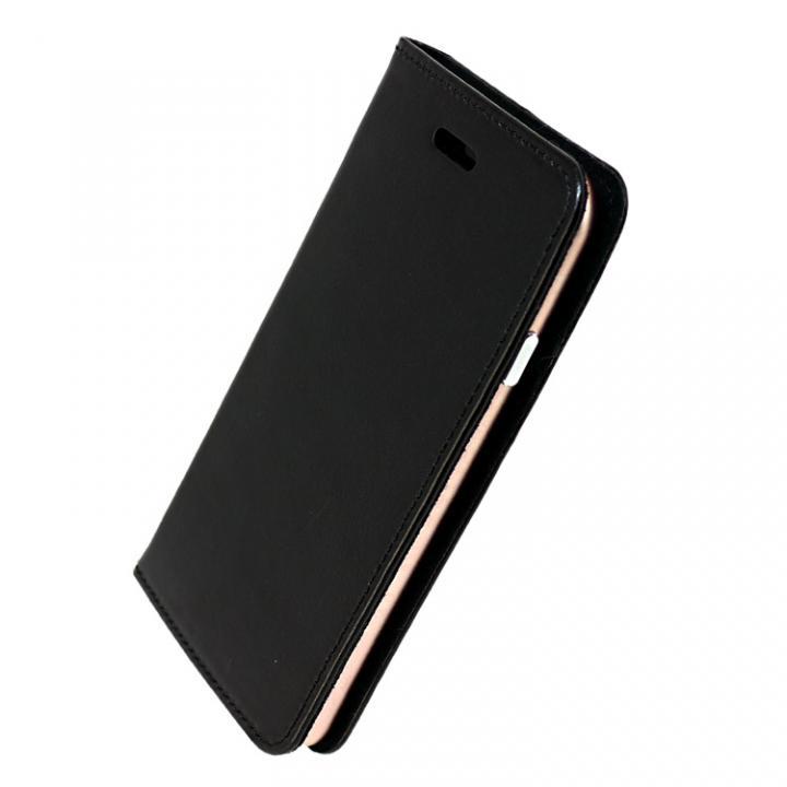 iPhone7 ケース 手帳×アルミバンパーケース Cuoio 黒/ローズゴールド iPhone 7_0